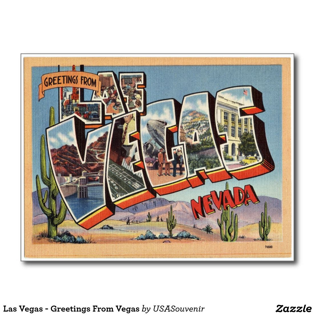 Las Vegas Greetings From Vegas Postcard Wedding Ideas