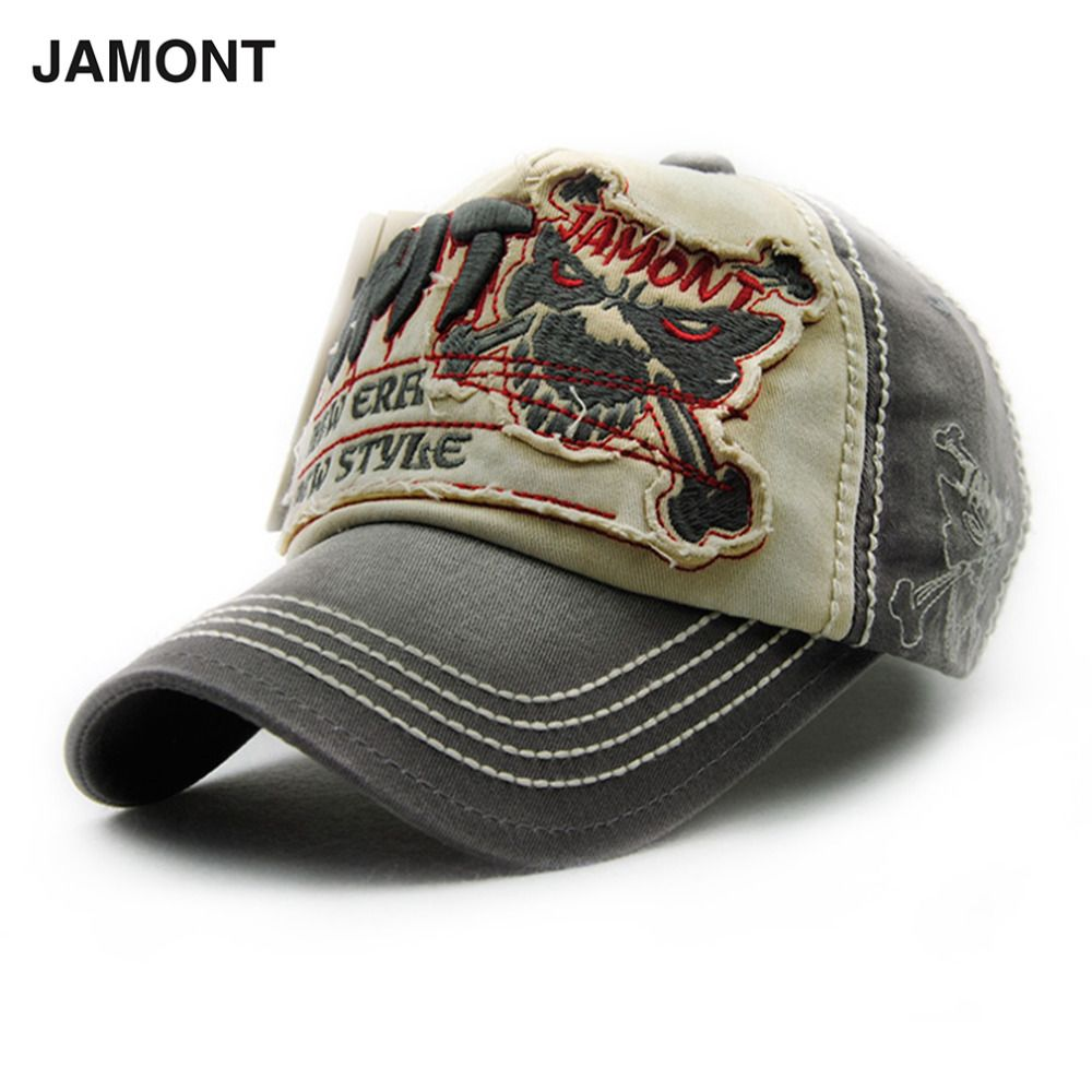 6e1d8ef7 JAMONT Men's Baseball Cap Adjustable Cotton casual hat Unisex Simple ...