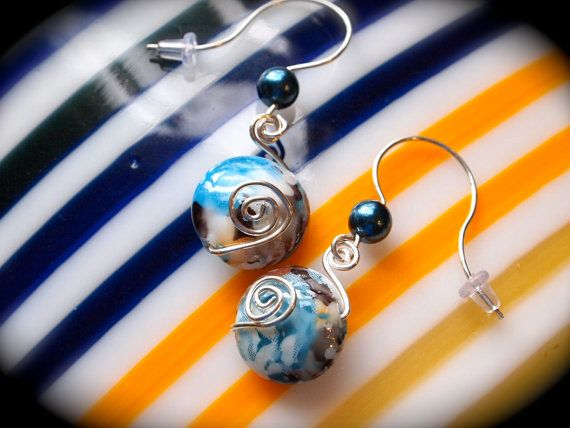 Sterling Silver Wire Wrapped Dangle by EllendaleMtnDesigns on Etsy, $30.00