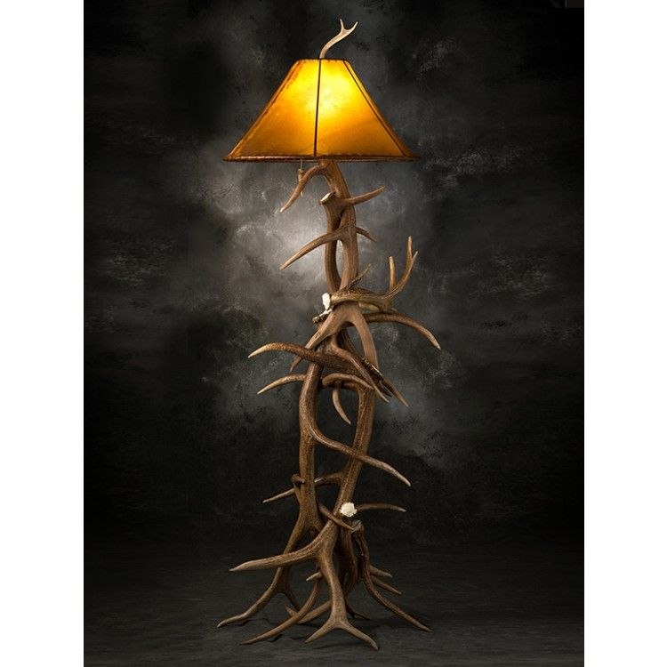 shot shipping screen free elk tall by at pm wide floor lamp antler