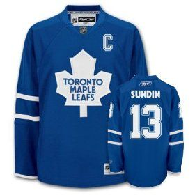 official photos c11cf 6e28e Sundin Blue Jersey, NHL Toronto Maple Leafs #13 C Patch ...