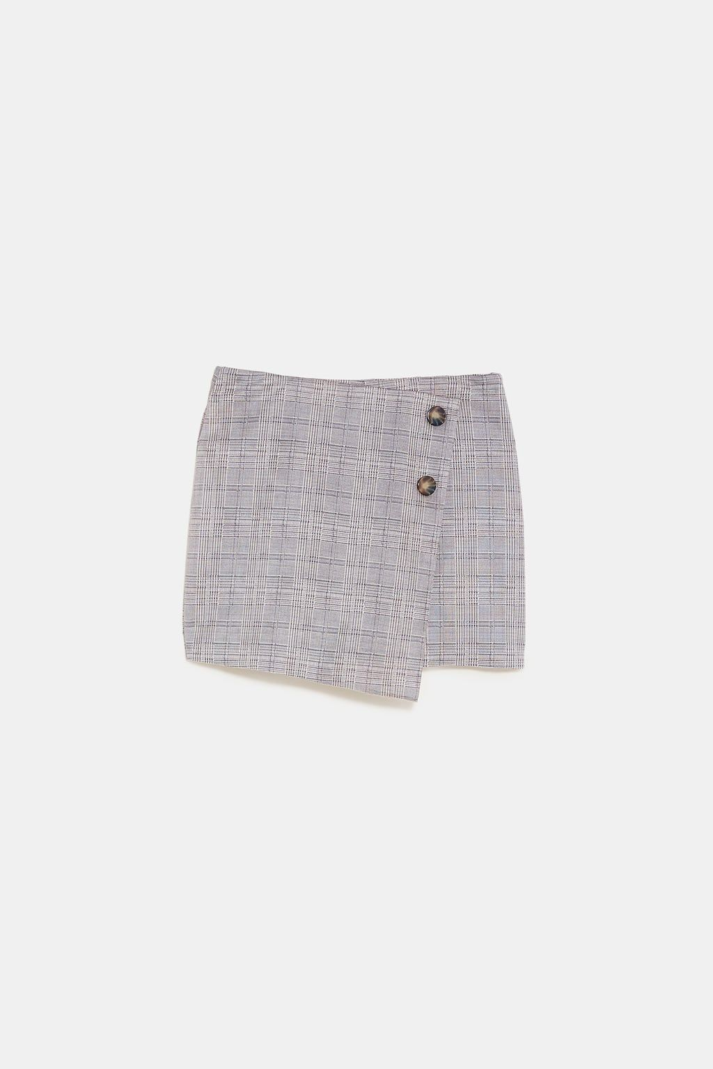 5ef012a855 Image 8 of CHECKED FAUX SUEDE BERMUDA SKORT from Zara | Clothes ...