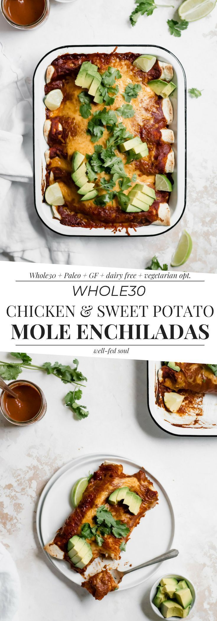 Chicken & Sweet Potato Mole Enchiladas images