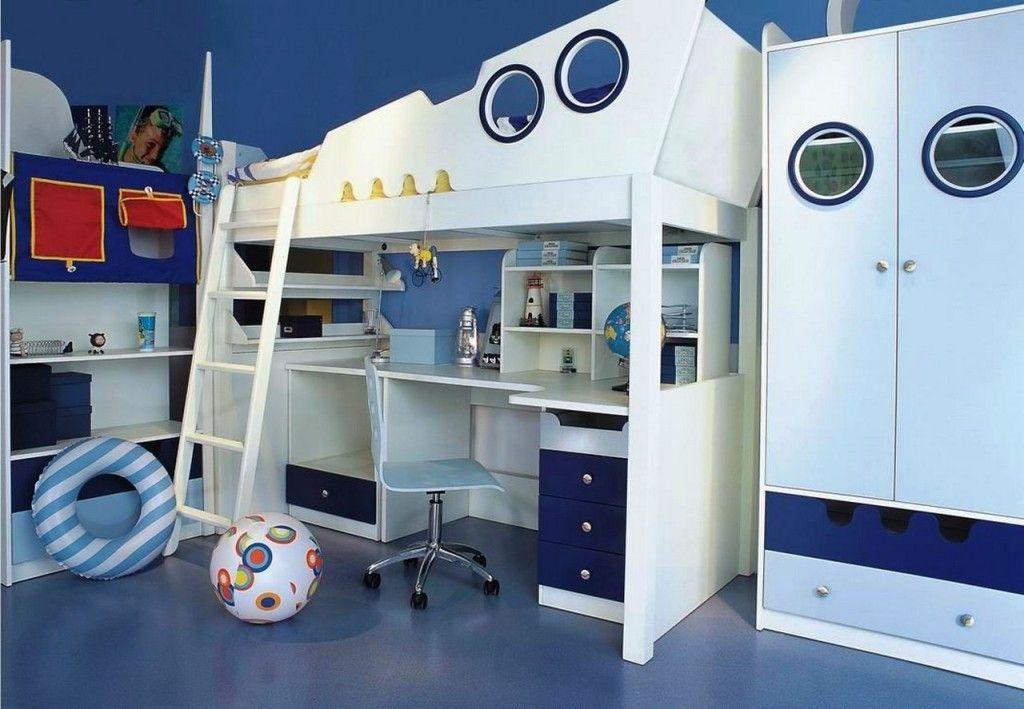 Nautical Bedroom Decor Kids kids room: cool ocean boys bedroom interior design with compact