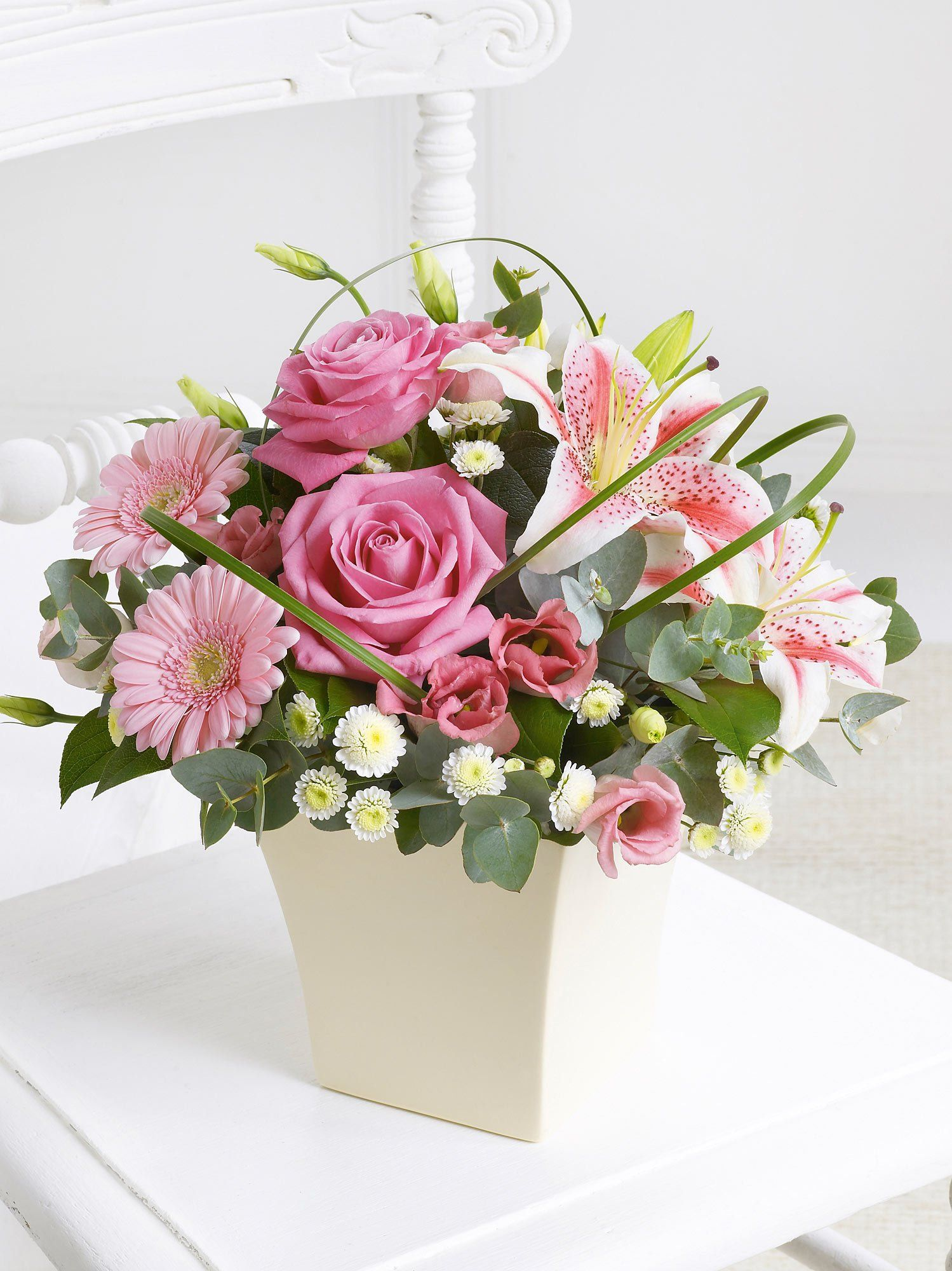 Pink Exquisite Arrangement Flower arrangements, Flower