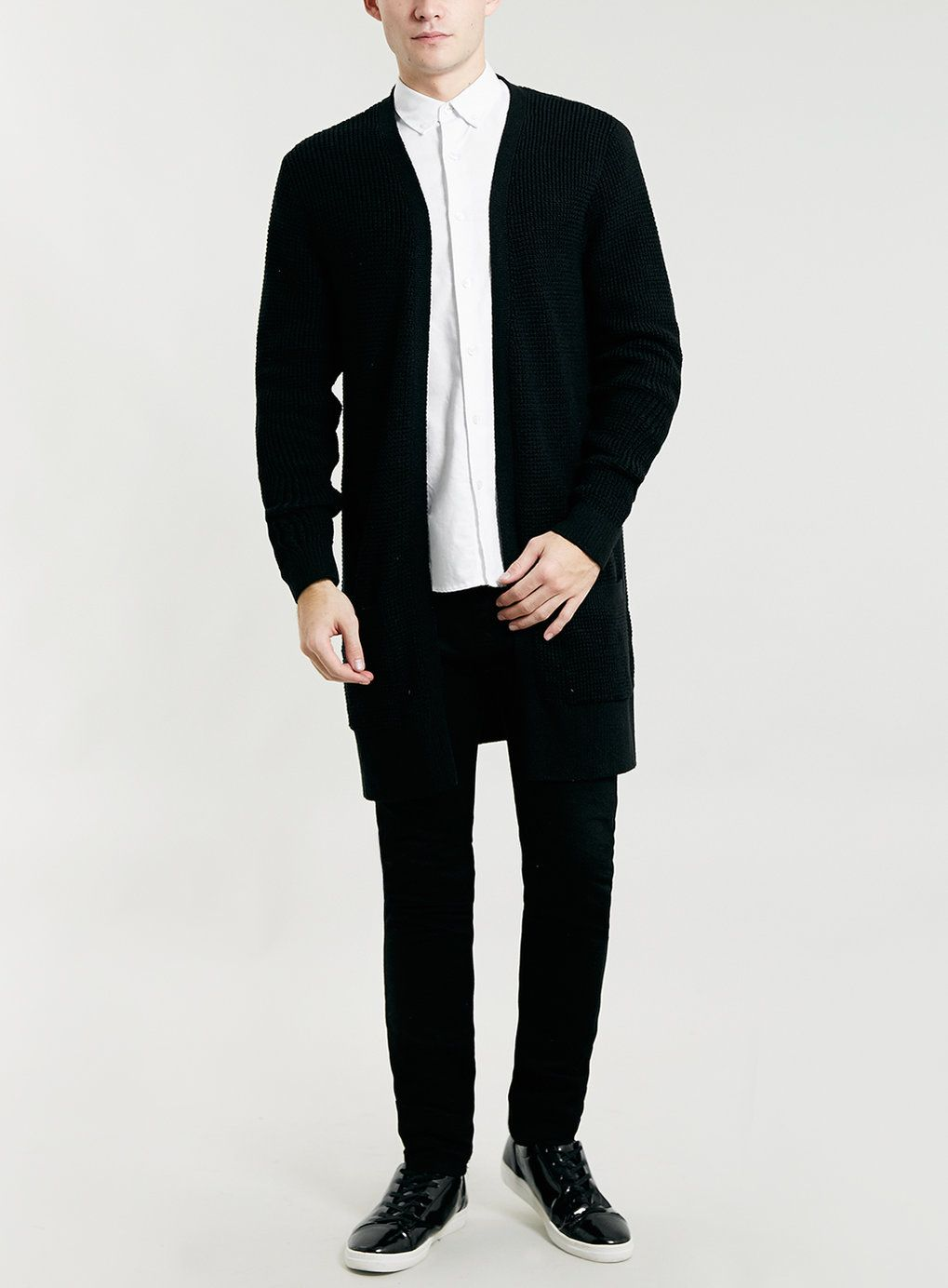 Photo 3 of BLACK LONG LINE DUSTER CARDIGAN | Bare trendage ...