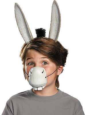 Bristol Novelty DS123 Donkey Costume Accessory Set and Sound One Size