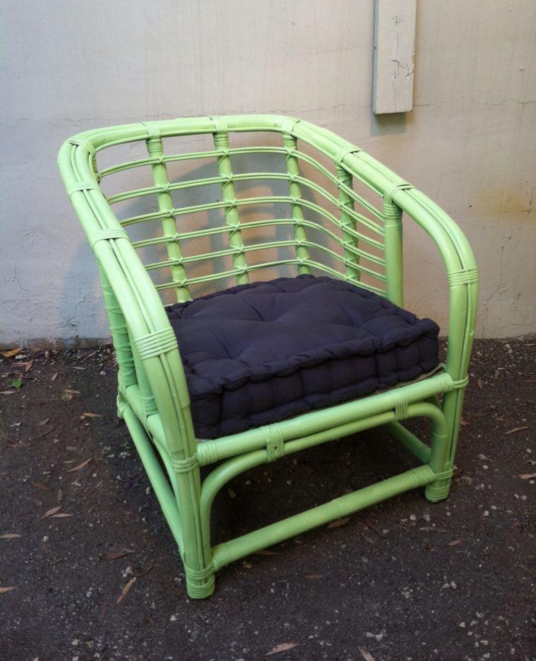 Jadeite green rattan vintage lounge chair. @blue_vesta ...