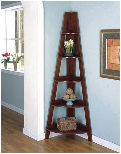 C800233 Mahogany Color Home Office 5 Tier Corner Shelf | New $299 SALE  $236.25 Friends