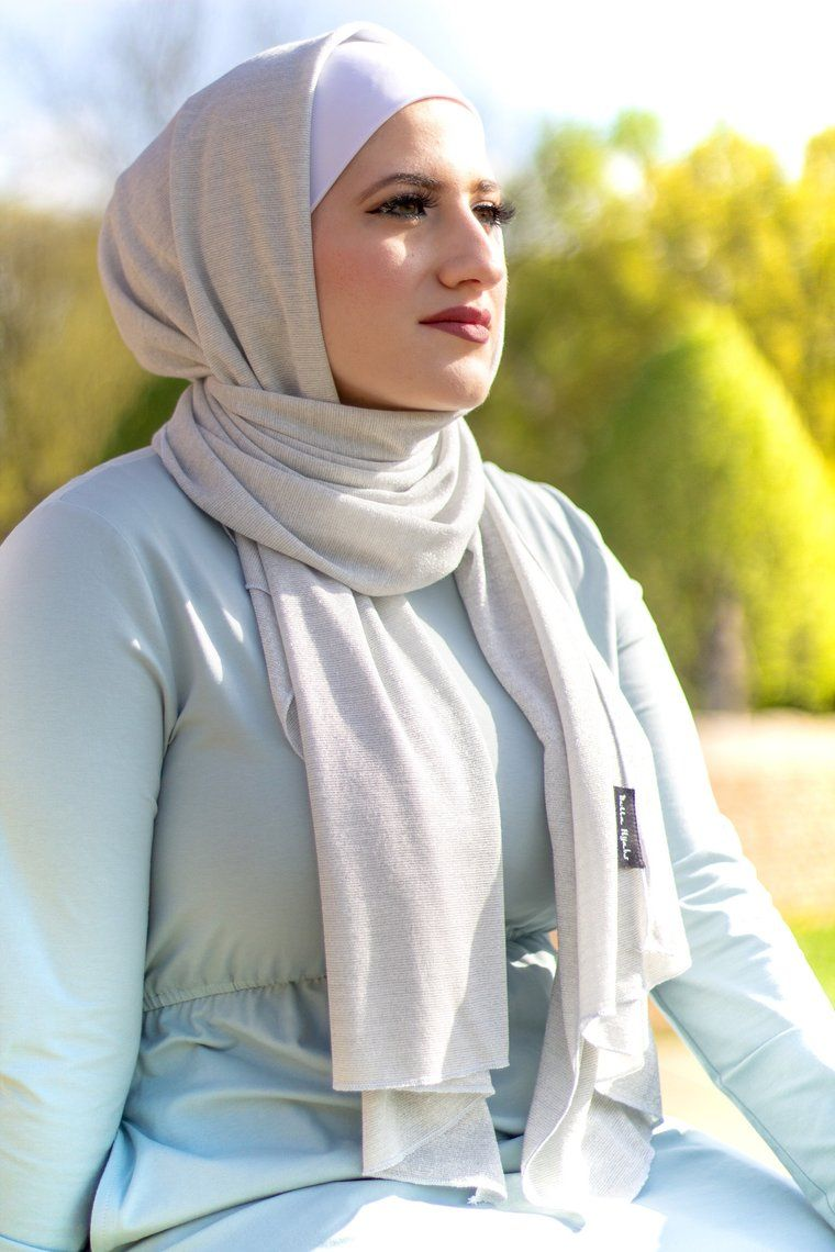 Nude Iris Foil Print Hijab - Hijab Fashion Shop
