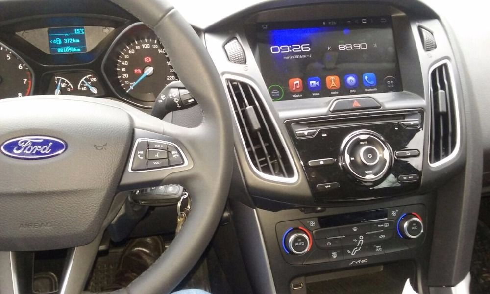 Quad Core 1024 600 Hd 9 Android 5 1 Car Dvd Player For Ford Focus 2015 2016 With Gps 3g Wifi Bluetooth Usb Dvr Mirror Lin Car Dvd Players Car Audio Car Radio