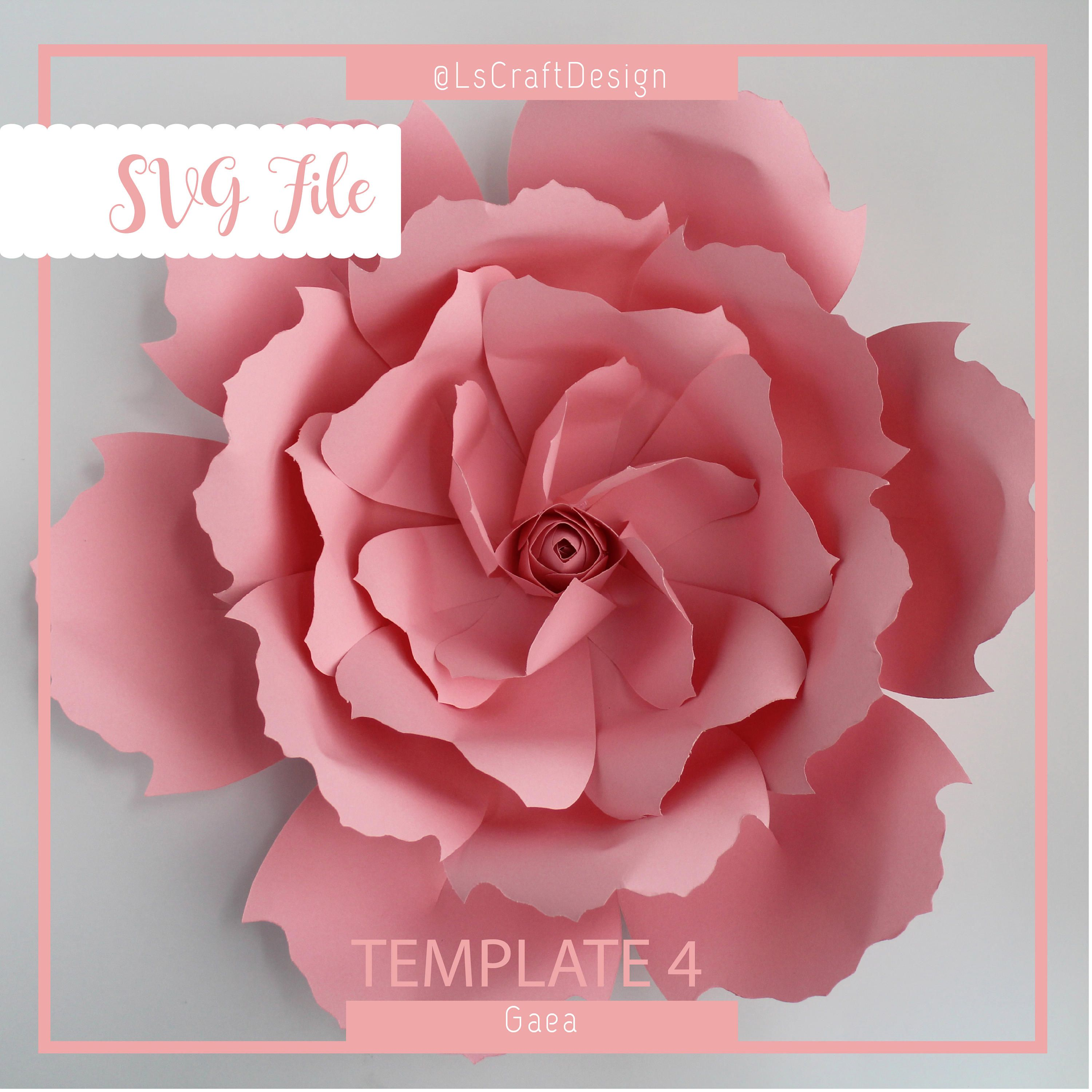 Svg paper flower template giant paper flower templates paper svg paper flower template giant paper flower templates paper flower diy cricut and silhouette ready base including mightylinksfo