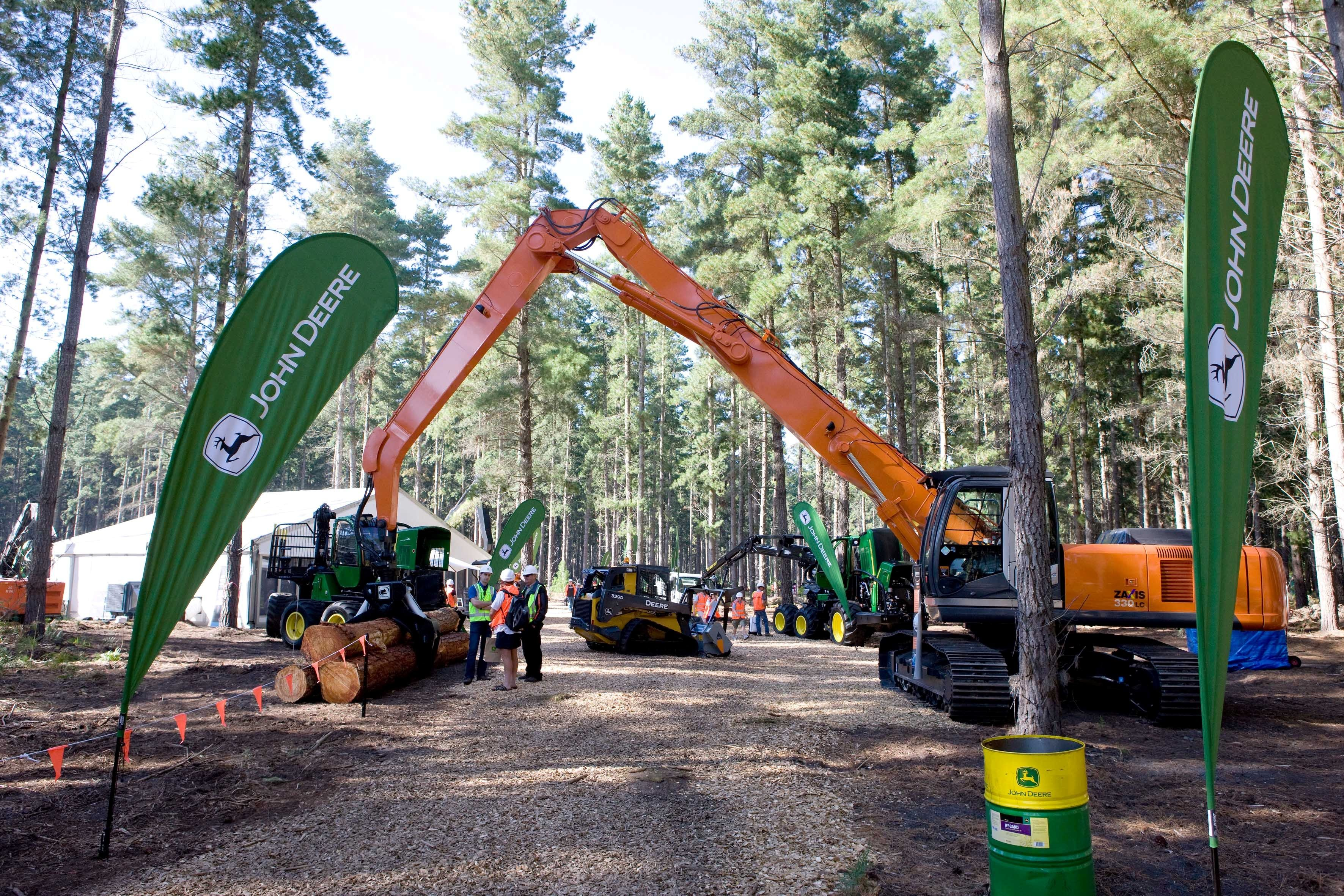 John Deere Forestry at Austimber 2012 | Hitachi Construction