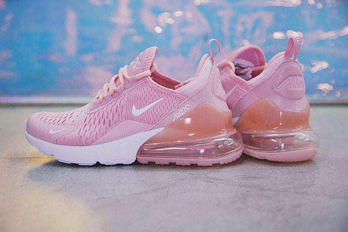 Factory Authentic Women Nike Air 270 Flyknit Pink White AH8050-610 Sneaker 2025d2ea3