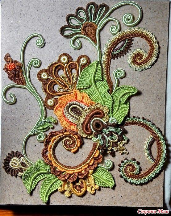 МК Картина ирладнским кружевом: Фото альбомы - Страна Мам