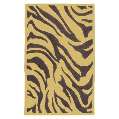 Surya Goa Dark Plum Zebra Printed Area Rug Rug Size: 9' x 13'