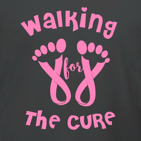 Walking for the cure with toes breast cancer awareness t for Breast cancer shirts ideas