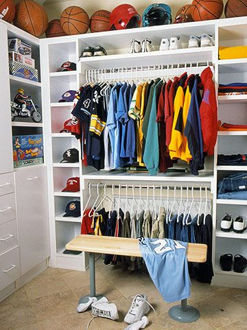 Blah Boys Closet Walk In Basketball Room Kids Organization Organizing