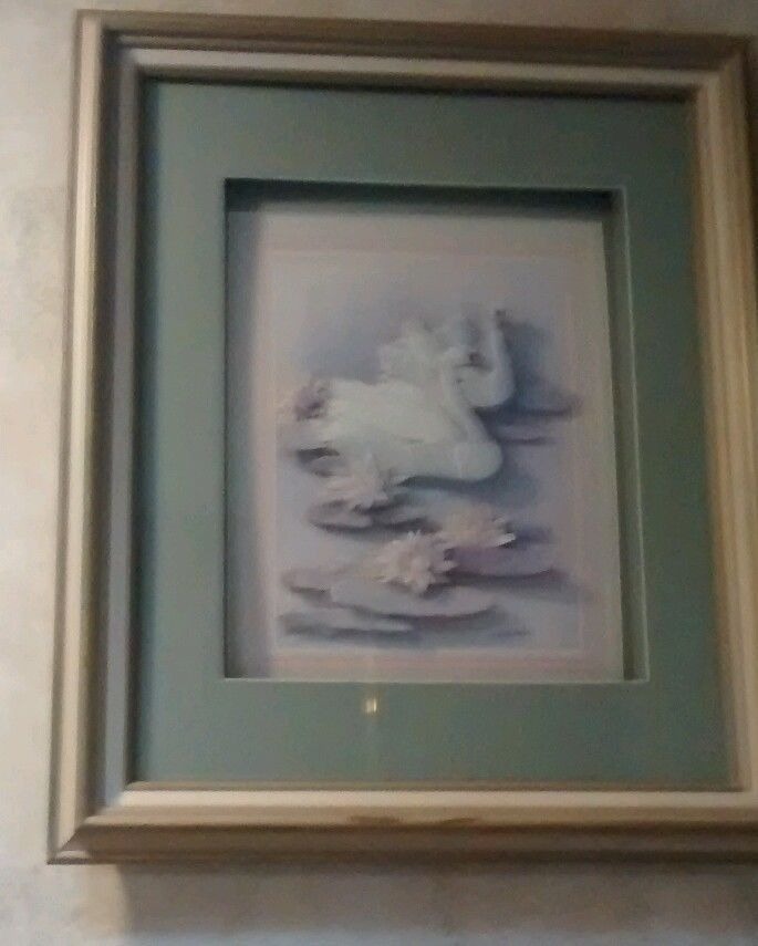 Swans Of Paradise Raised Picture Wonder for Vacation Home #ArtDeco