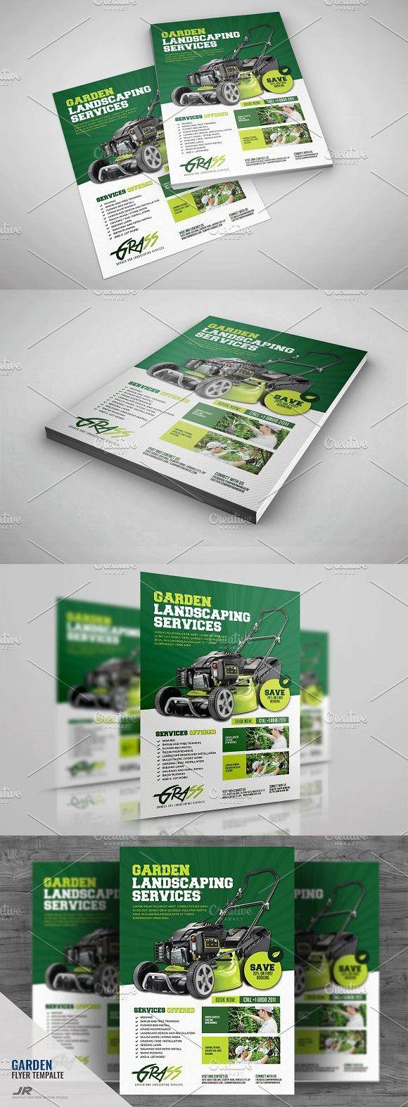 Landscaping Flyer. A4 Flyer | A4 Flyer | Pinterest | A4, Flyer ...