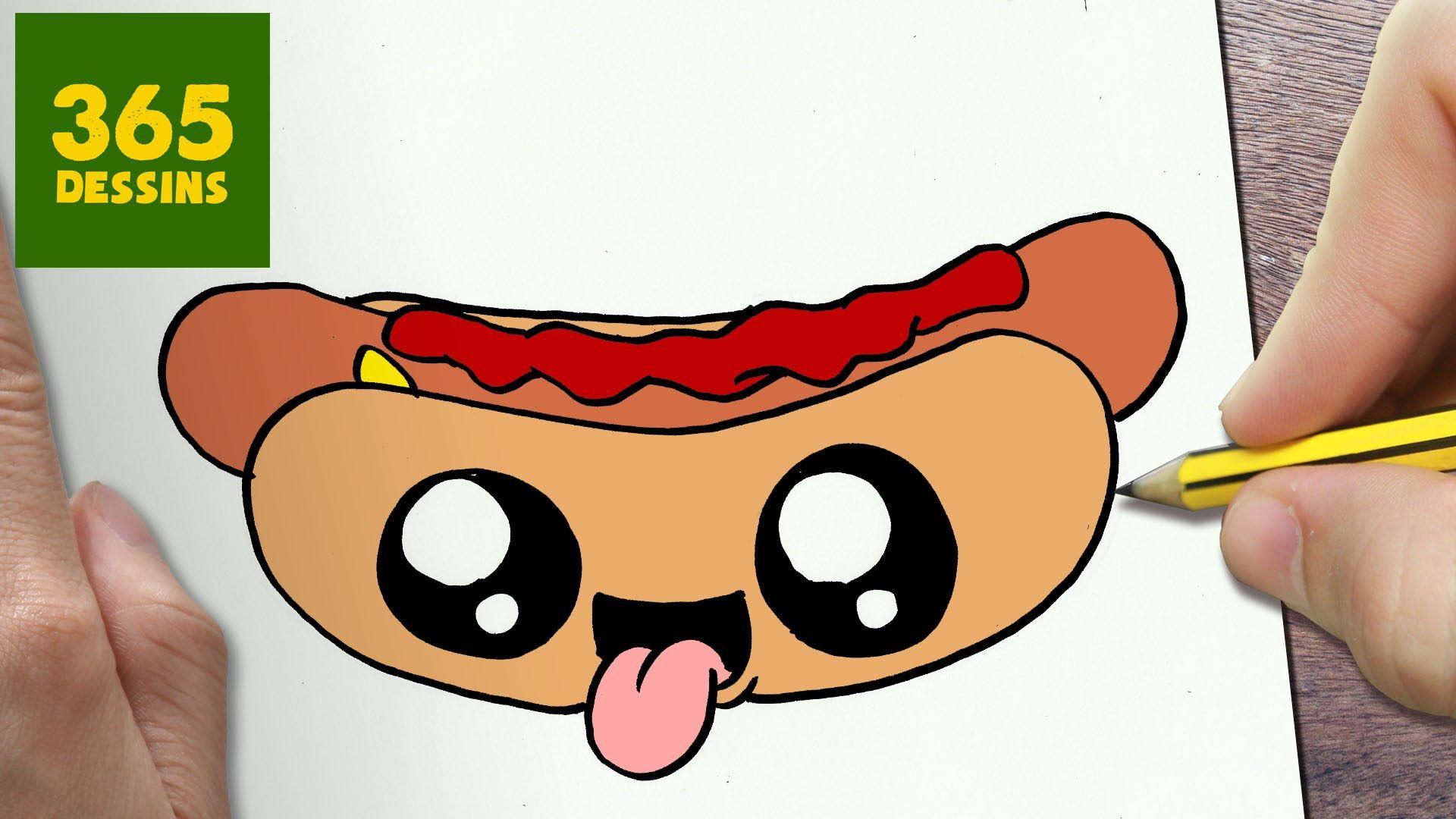 Comment Dessiner Hot Dog Kawaii étape Par étape Dessins