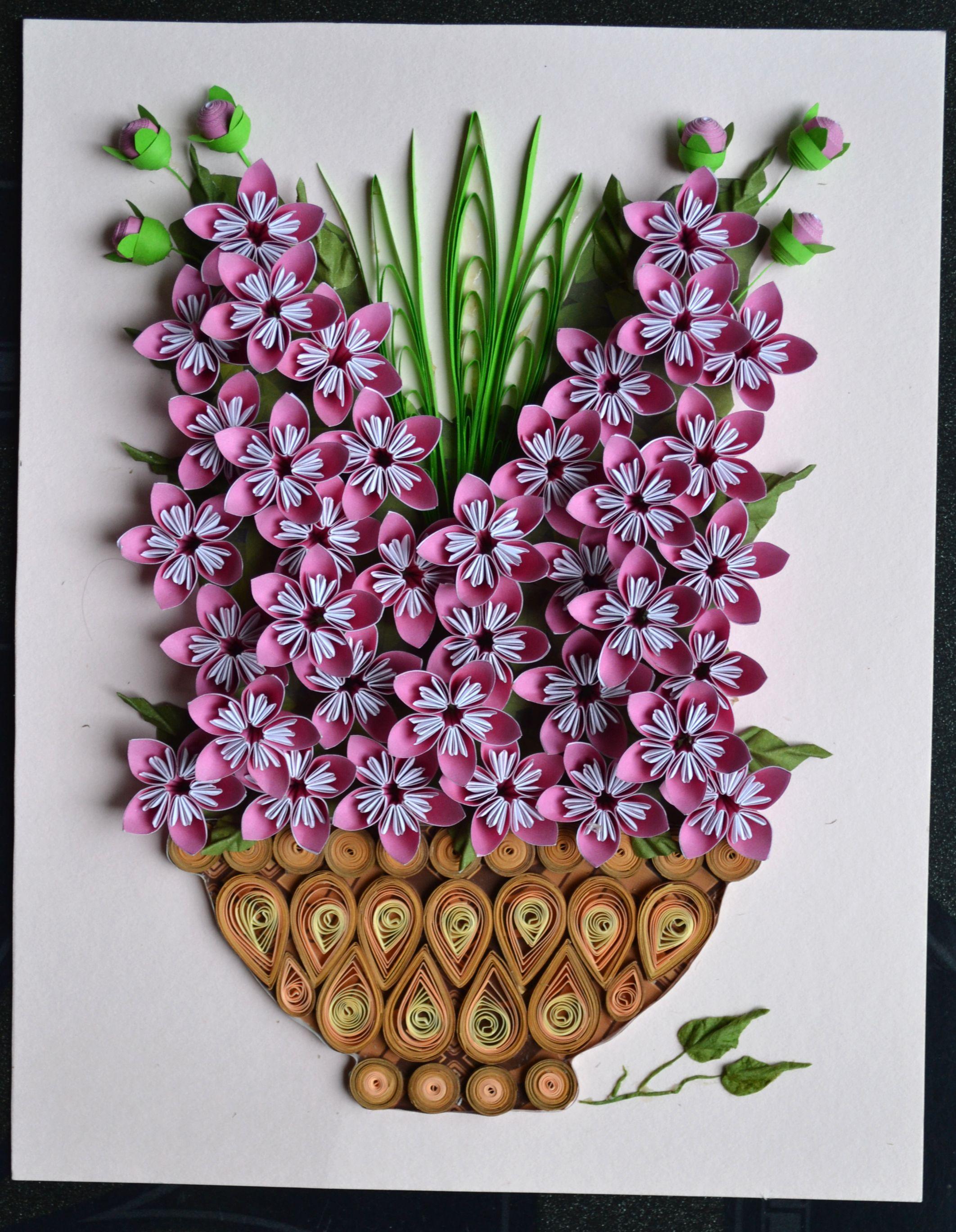 квиллинг картина цветы делается