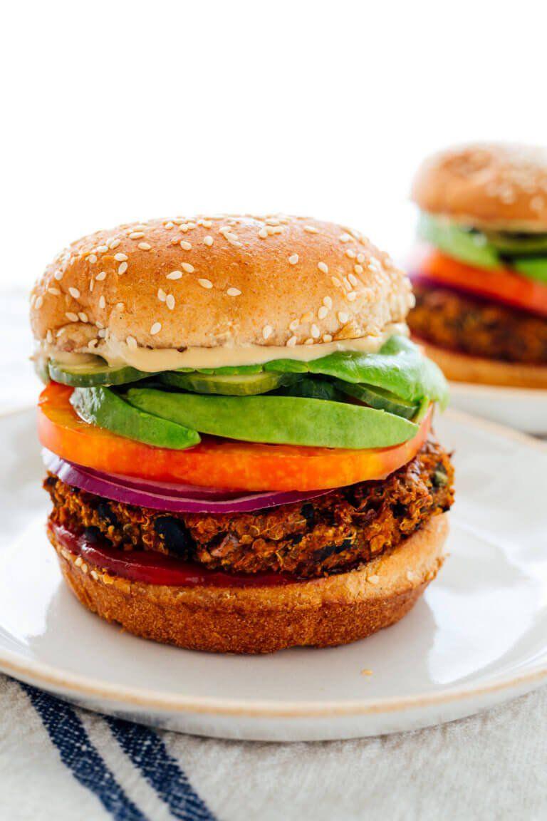 Favorite Veggie Burgers Recipe Cookie And Kate Recipe Recipes Veggie Burgers Recipe Veggie Burger