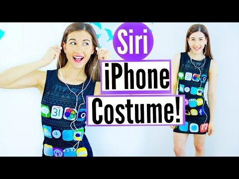 diy siri iphone halloween costume idea last minute halloween costume idea for teenagers youtube