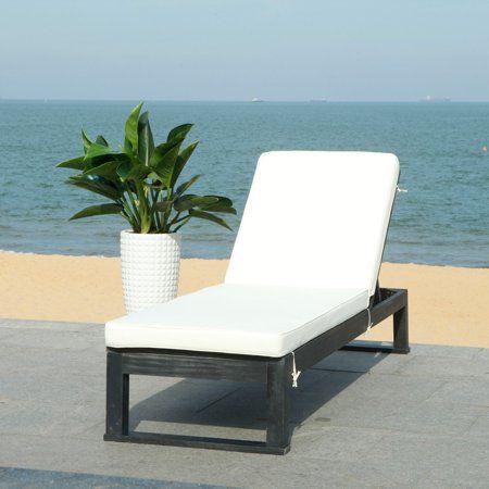 Safavieh Solano Outdoor Contemporary Patio Sunlounger with ... on Safavieh Outdoor Living Solano Sunlounger id=64485