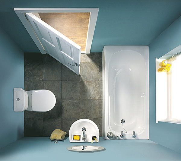 Small Blue Bathroom Top View Http Hative Design Ideas 100 Pictures