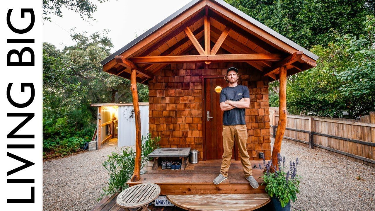 Off Grid Artisan Tiny House Built To Escape Wildfires Youtube