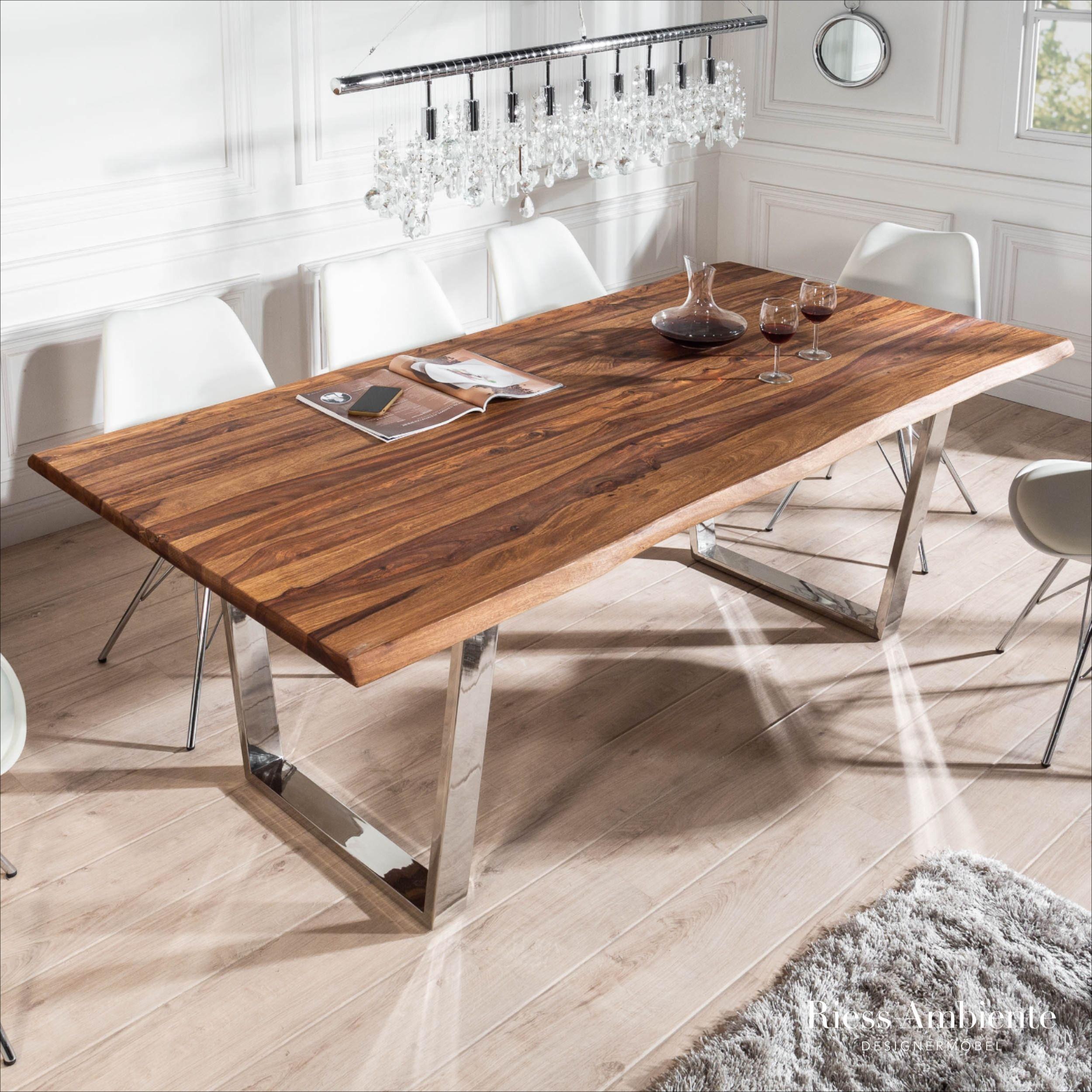 Massiver Baumstamm Esstisch Mammut 180cm Sheesham 3 5cm Tischplatte 180cm Baumstamm Esstisch Mammut Massive In 2020 Rustic Dining Table Rustic Dining Home Decor