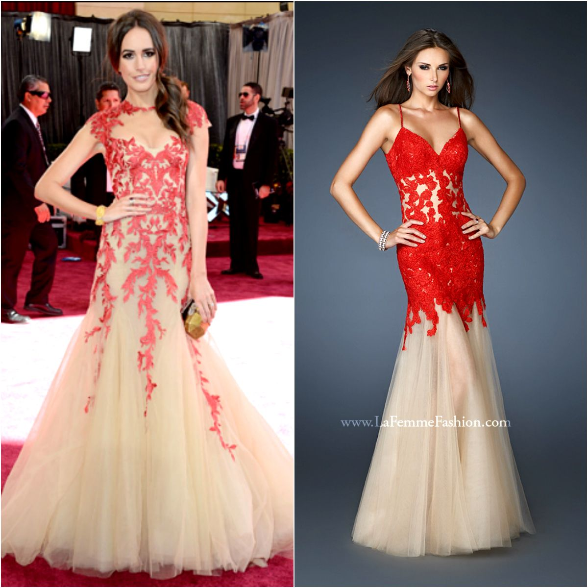 Red carpetinspired prom dresses louise roe lafemme prom