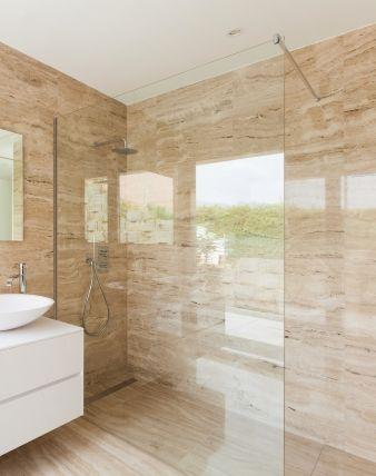 Papo Glaswand Dusche Duschtrennwand Mit Klemm Wandprofil Chromfarben Glas 8 Mm Duschabtrennung Badezimmer Renovieren Walk In Dusche