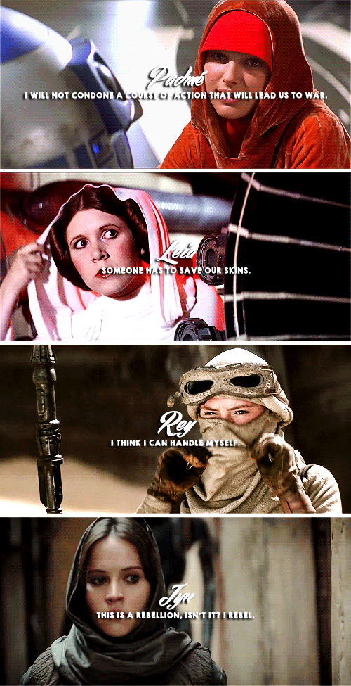 The Ladies Of Star Wars Iconic Quotes Everything Star Wars