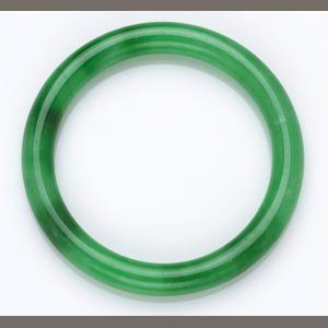 A Jadeite Jade Bangle Bracelet Price Realized Usd 13 420