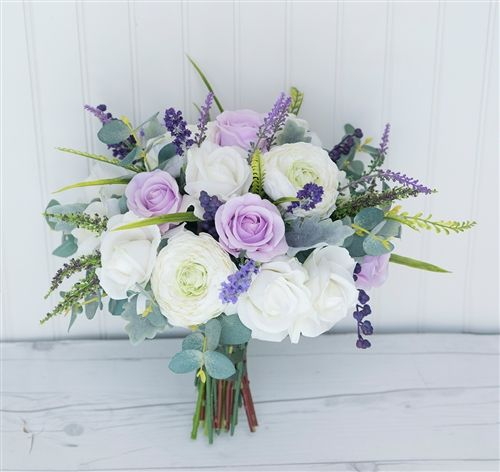 Boho Wild Sprays Bouquet - Lavender Eucalyptus Sprays - Silk & Real Touch Wedding Bouquet #fantasticweddingbouquets
