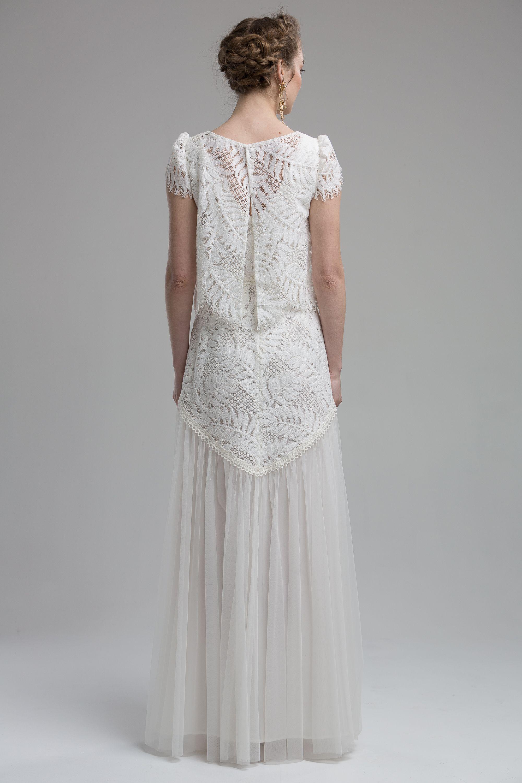 Back view of the usavannahu bridal dress a boho wedding dream