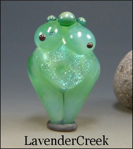 Glass+Lampwork+Goddess+Bead+Venus+Fertility+Focal+by+LavenderCreek,+$50.00