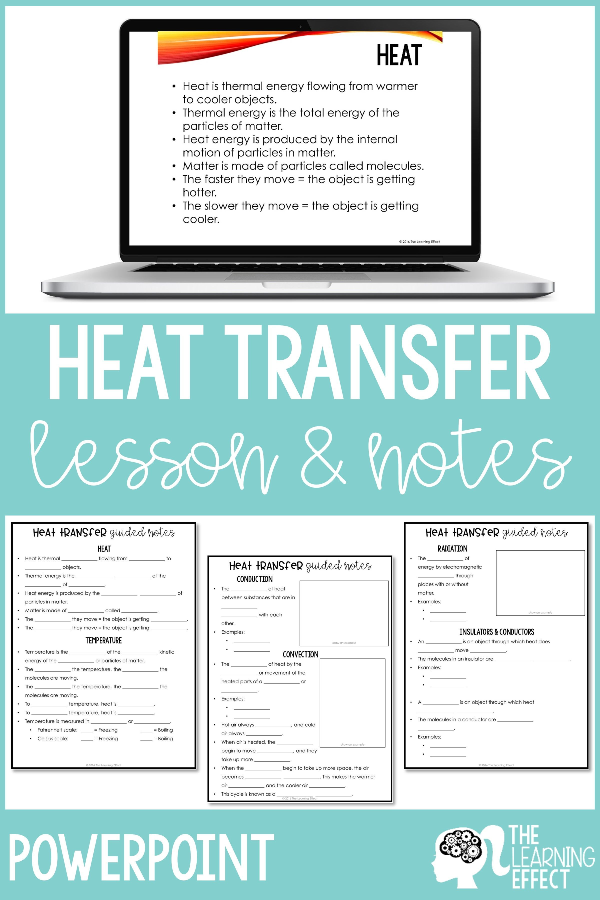 Heat Transfer Lesson And Notes Powerpoint And Google Slides Heat Transfer Lesson Heat