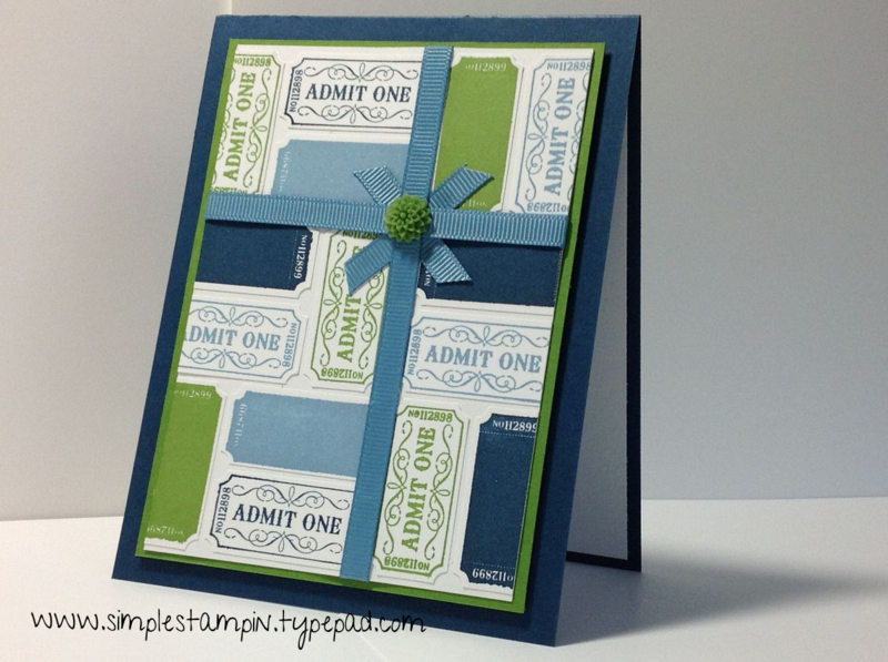 That a Ticket - Super fun and unique card to give for many occasions! - Stampin' Up!