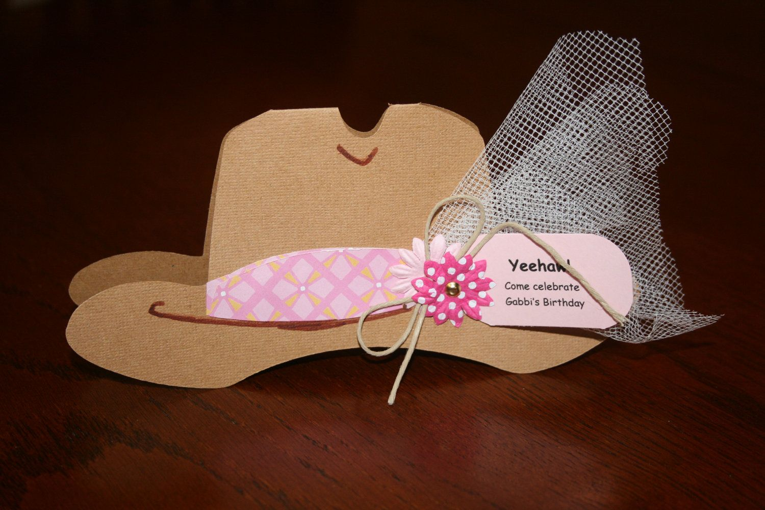 Cowgirl Hat Invitation by WeekendCrafterSC on Etsy 905437d9f64