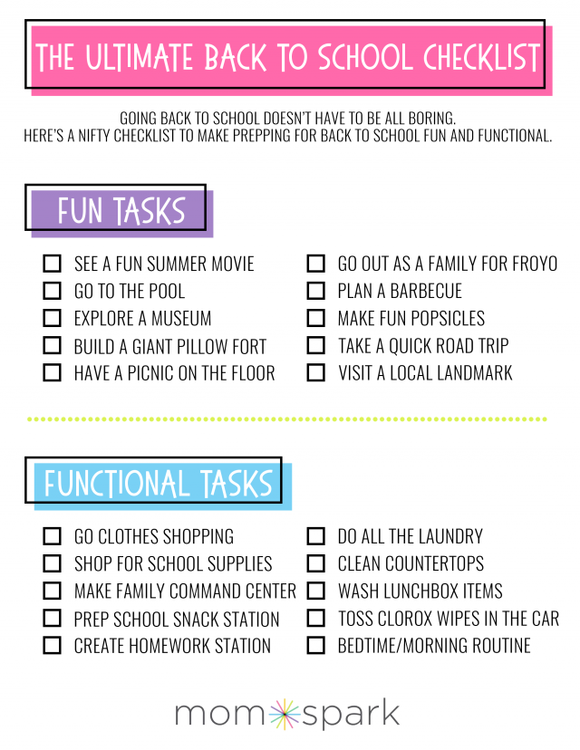 This Post Is Sponsored The First Day Of School Is Sneaking Up On Me So Fast That I Sometimes Wonder W Back To School Checklist School Checklist Back To School