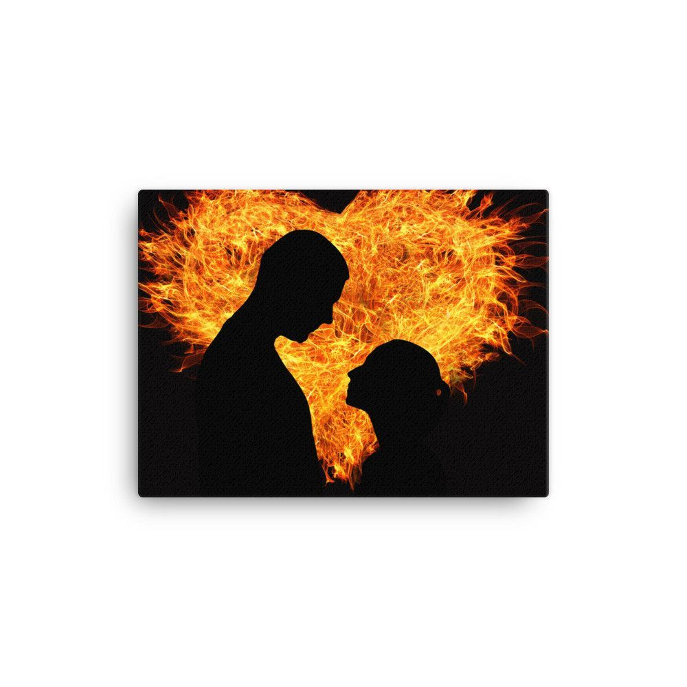 Heart flame love canvas | Products | Love canvas, Love status, Love