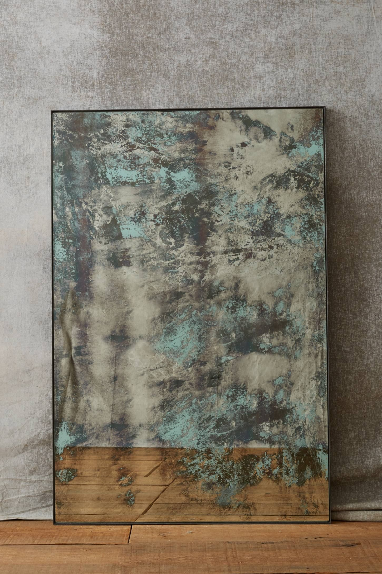 Color Washed Mirror Distressed Mirror Mirror Painting