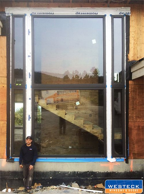 With An Overall Dimension Of 96 Inches Wide By 192 Inches High The Westeck Innovation Team Was Able To Satisfy The Windows And Doors Custom Door Window Vinyl
