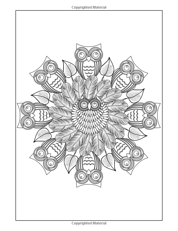 Amazon.com: Mandalas to Color: Owls Mandala Pattern Coloring Pages ...