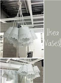 Lampade shabby con vasi ikea.. Le voglio! Ikea hack