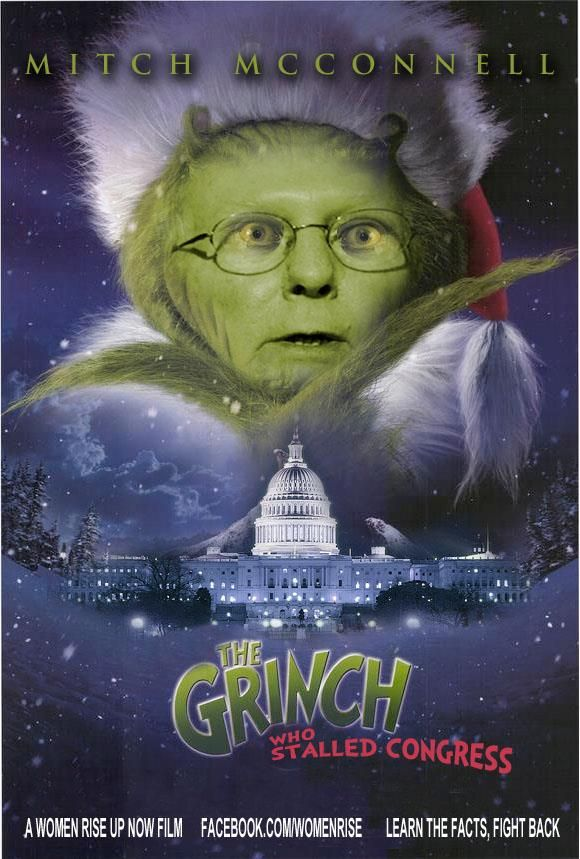 Mitch McConnell. The Grinch Who Stalled Congress. #Congress #McConnell #GOP #Republican   Mitch mcconnell, Republican gop, Tomorrow is another day