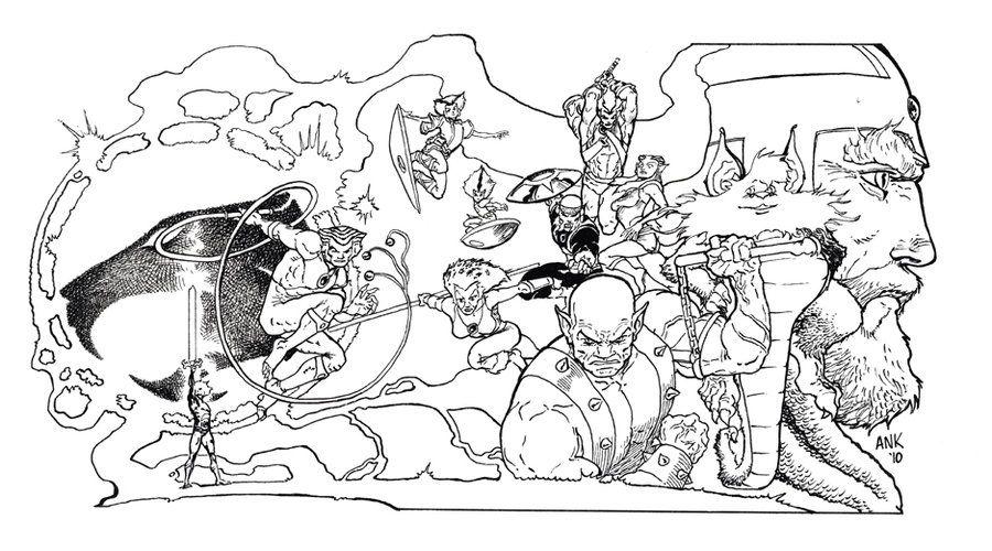 thundercatscoloringpages02 80s Cartoons Colouring